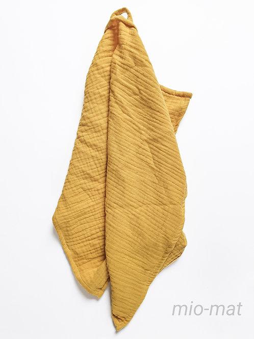 Muslin tea towel - mustard