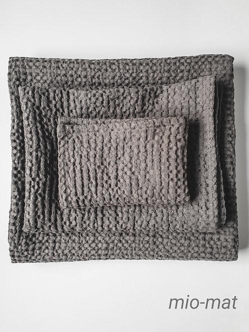 Linen waffle towels - gray