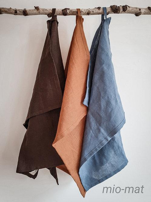 Linen tea towel - Solid color