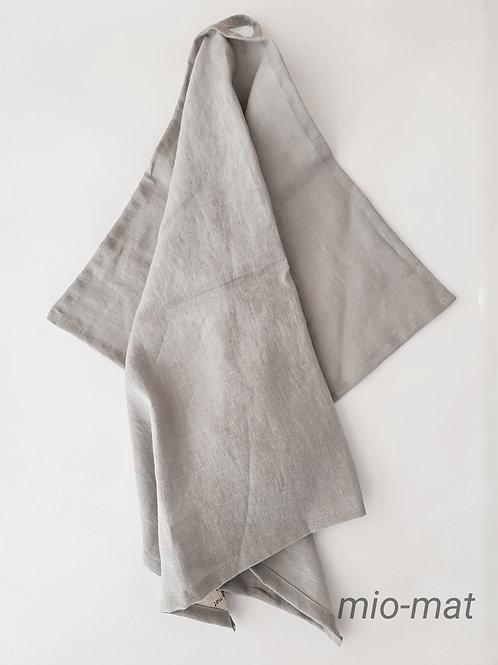 Linen tea towel - light gray