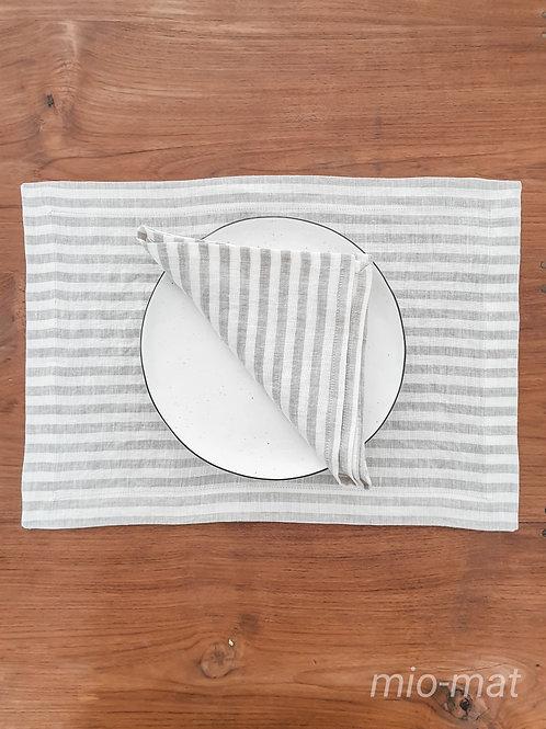 Linen napkins stripes-  set of 2,4,6,8