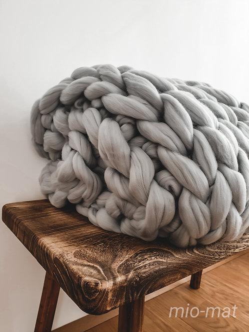 Merino blanket - light gray