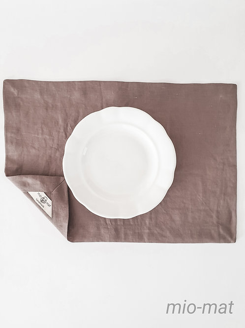 Linen placemat - warm taupe (set of 2,4,6,8)