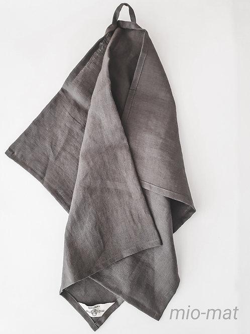 Linen tea towel - dark gray