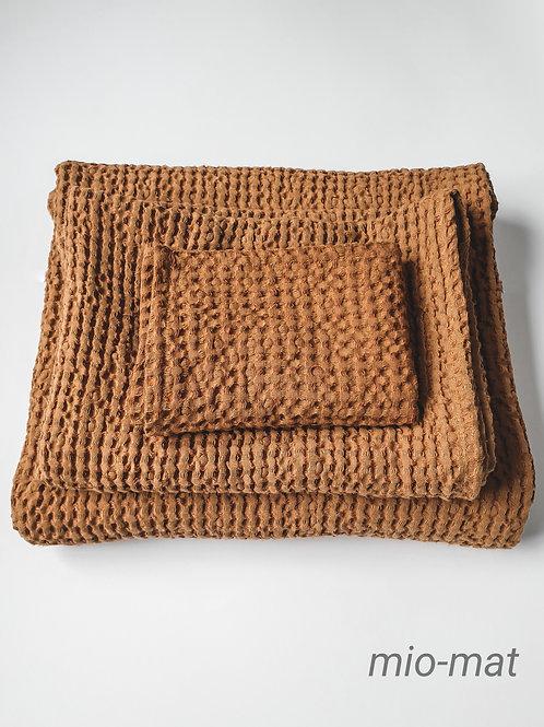 Leinen Waffel Handtücher - terrakotta