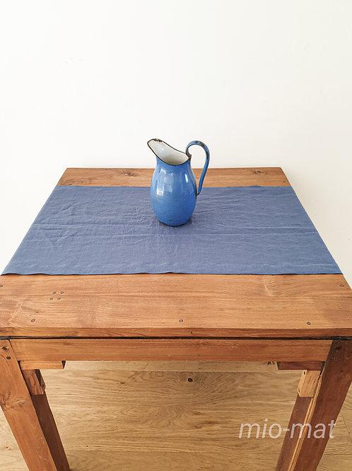 Tischläufer aus Leinen -blau