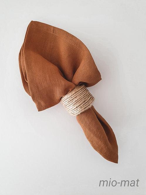 Linen napkins - terracotta (set of 2,4,6,8)