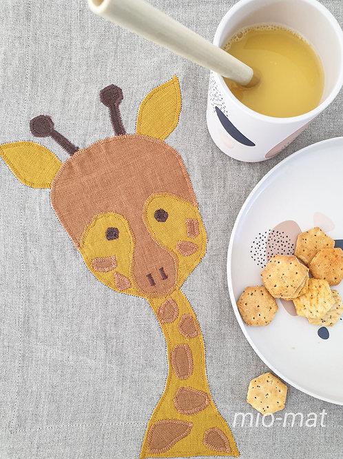 Kinder Tischset Giraffe