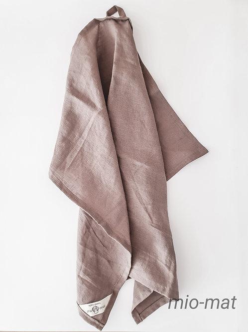 Linen tea towel - warm taupe