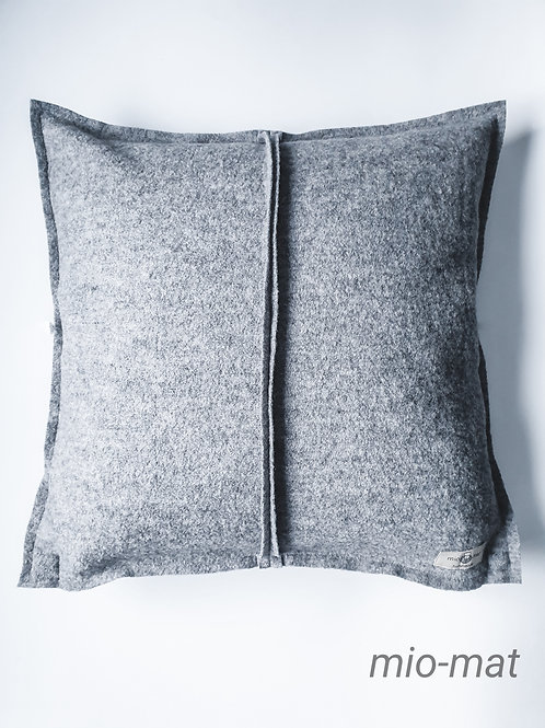 Wool pillow cover - light gray
