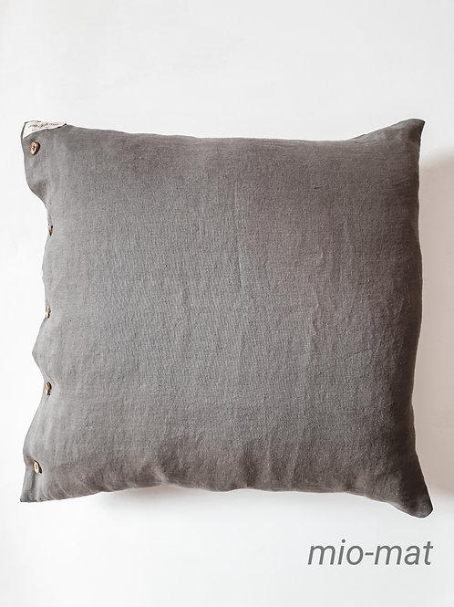 Linen pillow cover - dark gray