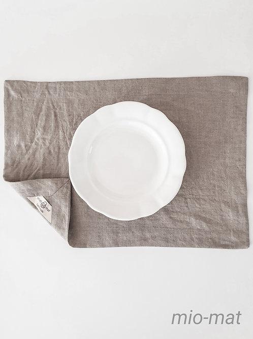 Leinen Tischset - leinen natürlich (Set von 2,4,6,8)