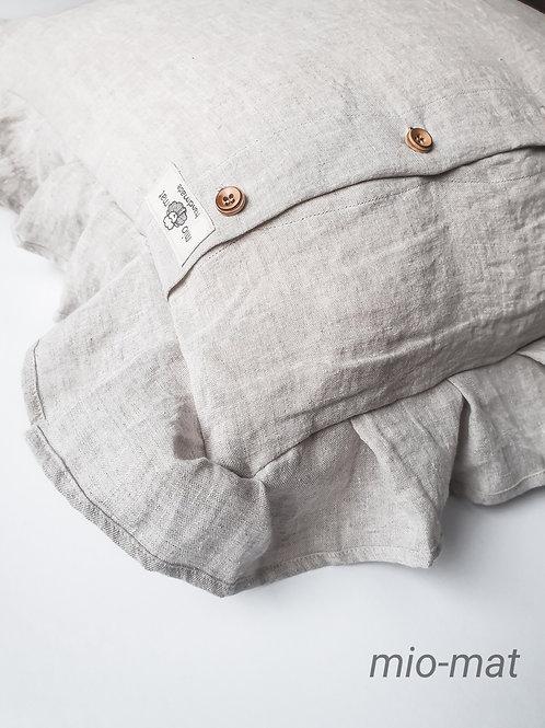 Linen throw pillow cover- Soul Line