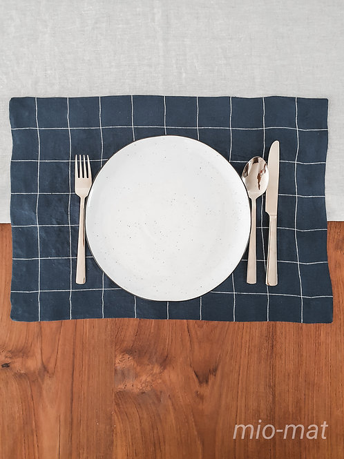 Linen table placemat- set of 2,4,6,8