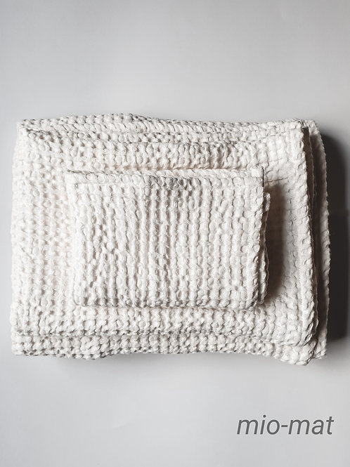 Leinen Waffel Handtücher - weiß