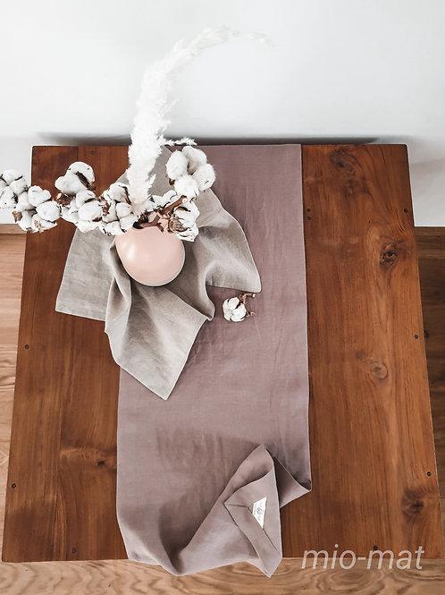 Linen table runner - Fine Line