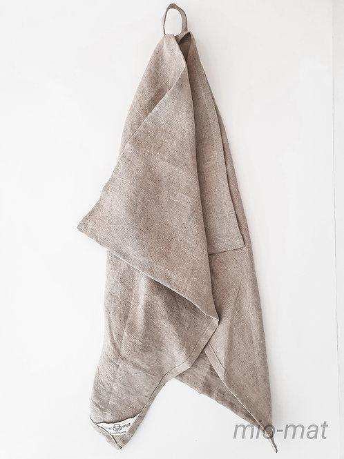 Linen tea towel - linen natural