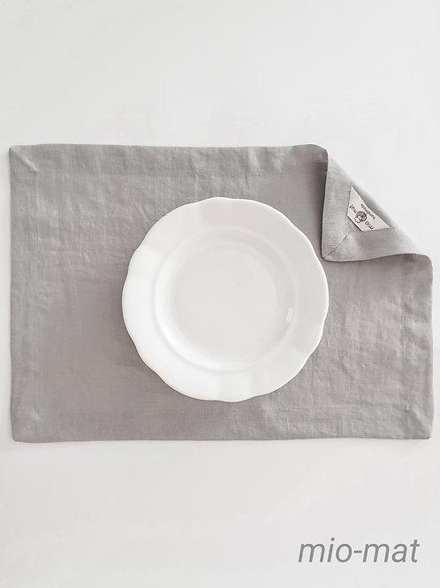 Linen placemat - light gray (set of 2,4,6,8)