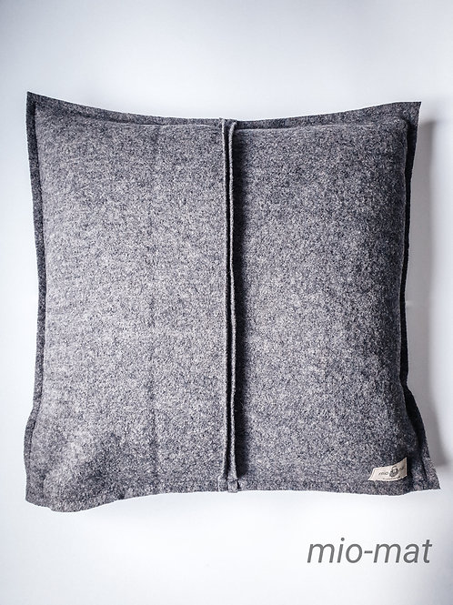 Wool pillow cover - dark gray