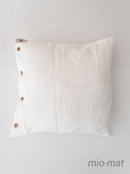 Linen pillow cover - white