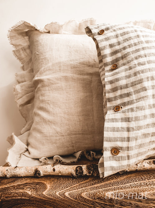 Linen pillow cover stripes