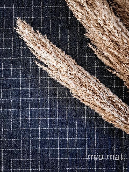 Tablecloth - navy/white plaid