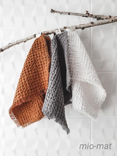 Linen waffle face towel - Soft Line