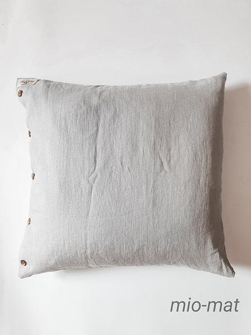 Linen pillow cover - light gray