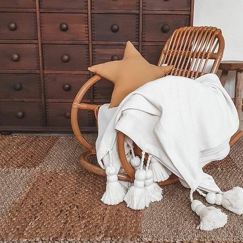 Tagesdecke aus Baumwolle - weiß