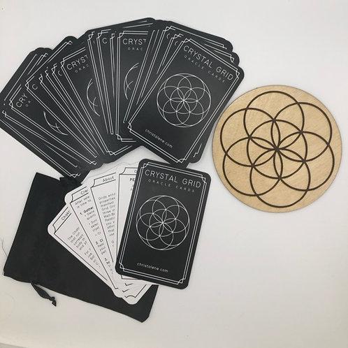 Crystal Grid Oracle Cards & Wooden Grid
