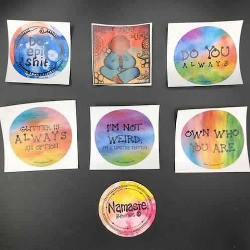 Square & Round Stickers