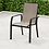 7 Piece Sling Dining Patio Set, chair front view