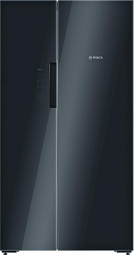 Bosch  AMERICAN FRIDGE FREEZER - BLACK GLASS