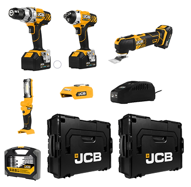 JCB 12 Piece Cordless Power Tool Kit #84874