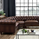 Thumbnail: Allington Brown Leather Chesterfield Corner Sofa