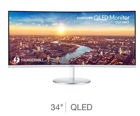 Samsung  34 Inch QLED WQHD Monitor, LC34J791WTUXEN