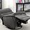 Thumbnail: Grey Fabric Swivel Glider Recliner Chair