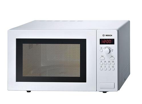 Bosch HMT84M421B, 25L Solo Microwave in White