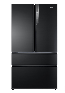 Haier HB25FSNAAA, American Style Fridge Freezer A++ Rating in Black