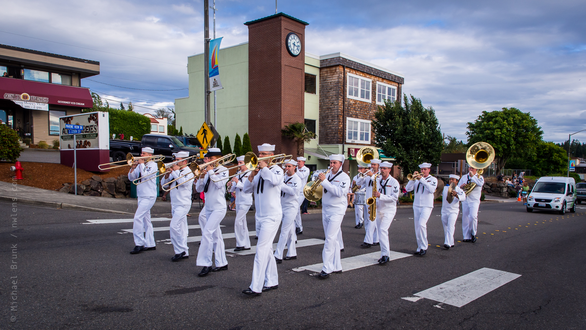 Navy Band at Waterland Parade