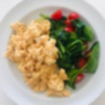 Æg med spinat