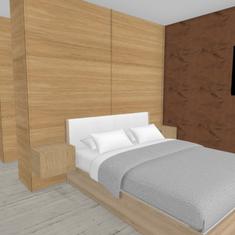 1 Vooraanzicht kast en bed slaapkamer .p