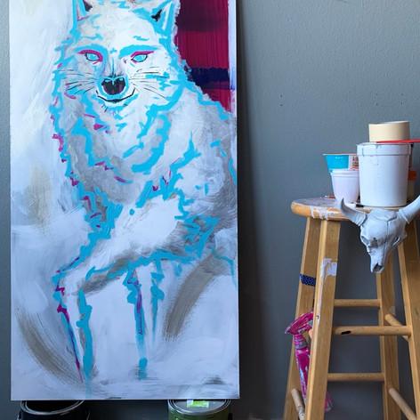 'Amadeus the White Wolf', 2020