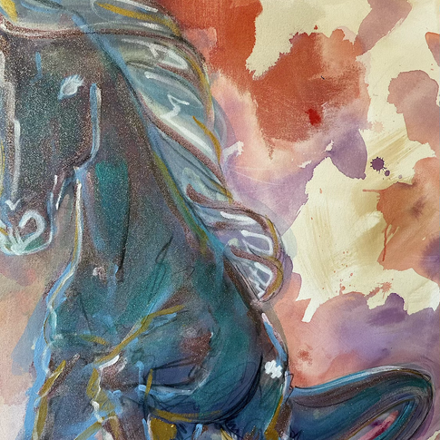 Sparkling Rose the Unicorn Stallion, 2021