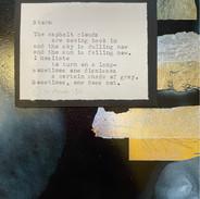 """Storm"" | 2021 | Framed 8"" x 10"" | Original manuscript atop original work of art"