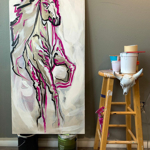 "'Quicksilver to Assateague Island Wild Horse"", 2020"