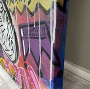 """""""Everybody Panic!"""", 2021, 24"""" x 72"""", acrylic on canvas"""
