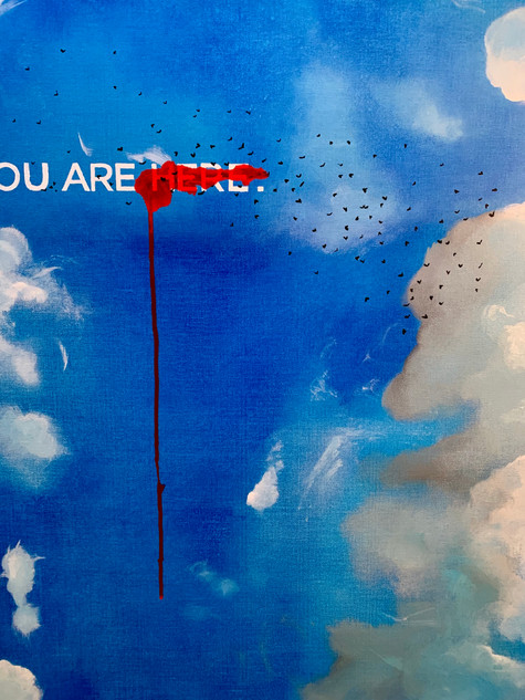 Detail of You Are Here, 2019