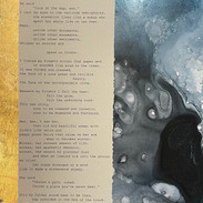 """N O M A D [Roots to Needles]"" | 2021 | Framed 8"" x 10"" | Original manuscript atop original work of art"