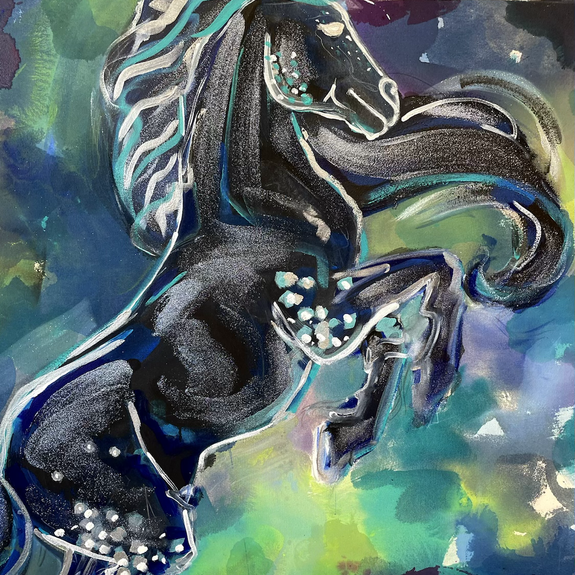 Detail of Boreas the North Wind Stallion, 2021